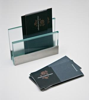Business card holder for desk