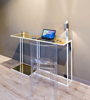 Painted iron desk