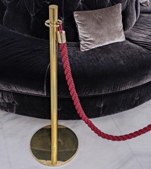 Brass barrier post