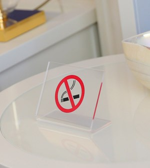 Plexiglass table number