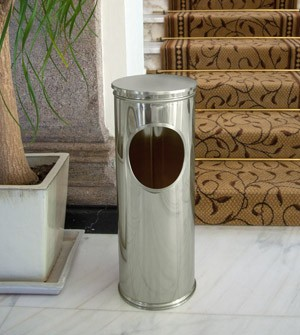 Umbrella bin stand in steel or brass