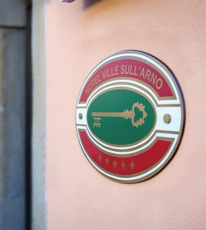 Sign for hotel classification for Italy