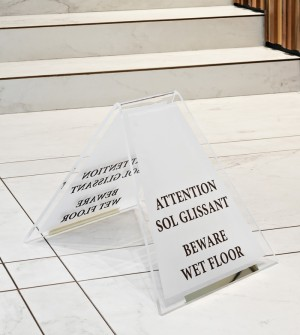 Custom wet floor signs