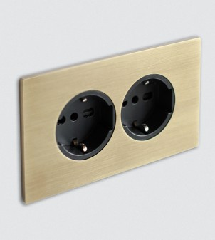 Plate with electric sockets