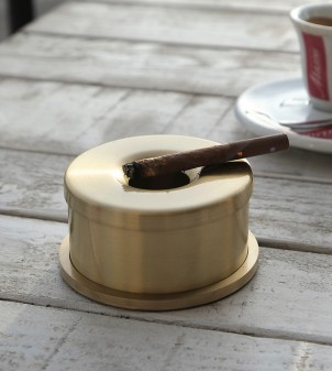 Brass designer ashtray for tables