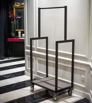 Hotel style luggage cart of modern conception