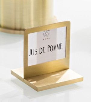 Brass place card table sign