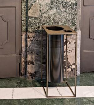 Iron wastepaper bin