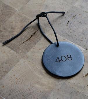 Personalised leather key holder