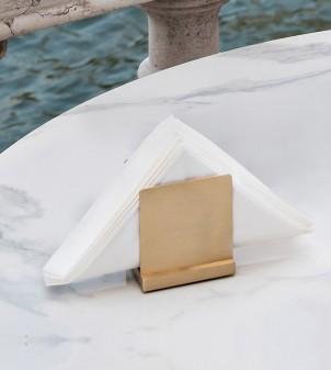 Brass designer napkin holder