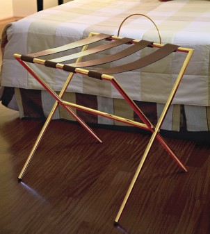 Folding luggage rack for suitcases