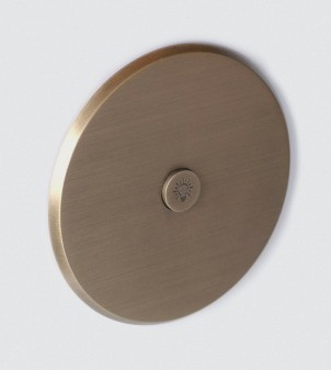 Round electric plate in brass