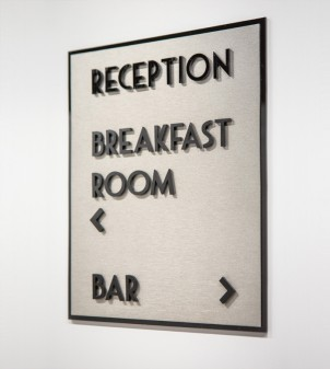 Room number signs for hotels in Plexiglass