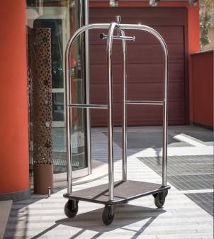 Hotel valet carts with coat rail