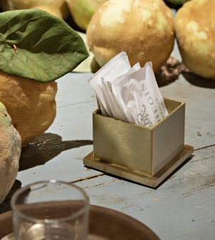 Sugar and tea bags bowl for bars