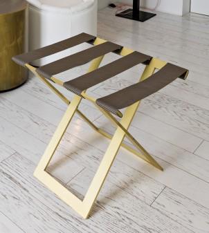 Customizable folding luggage rack