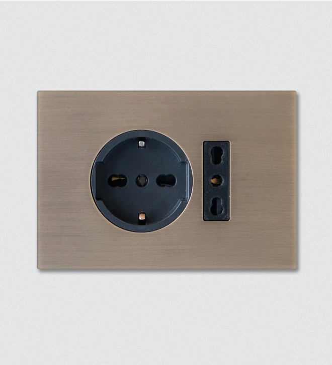 Designer switch plates with sockets