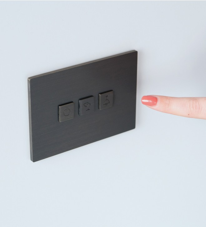 Wall electric switch plates with buttons
