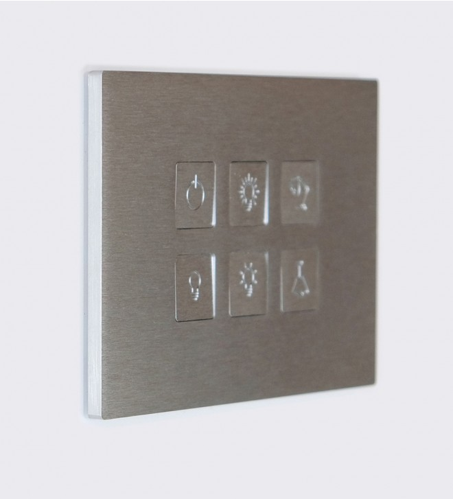 Electric plates in stainless steel with buttons