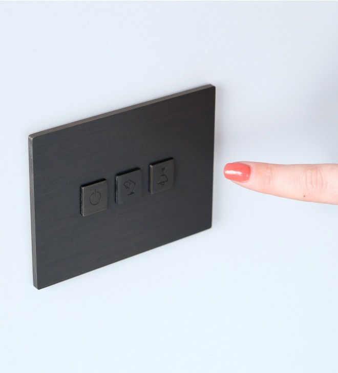 Switch plates with button and USB port