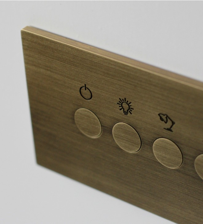 Electric plate with round buttons