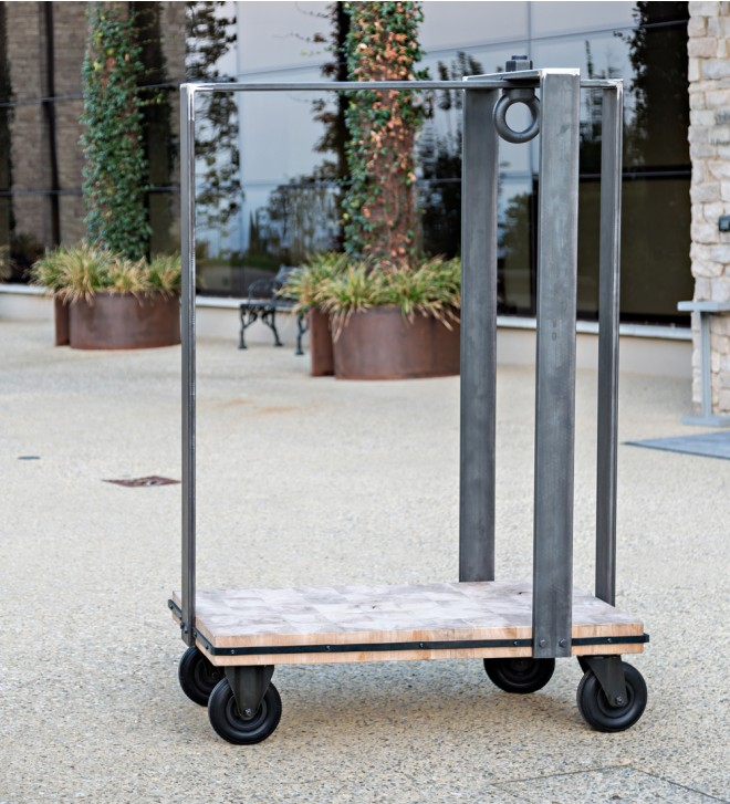 Vintage hotel luggage cart