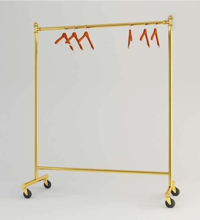 Rolling clothes rack