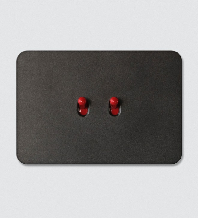 Flush mount electric switch plate with buttons
