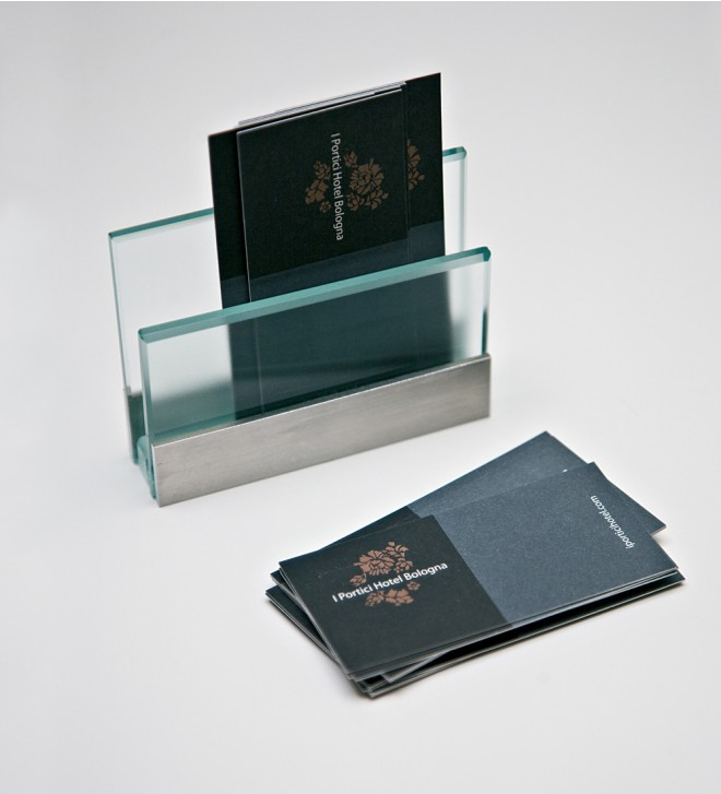 Business card holder for desk