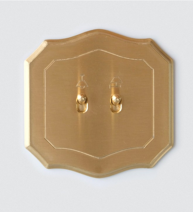 Baroque electric plate with lever