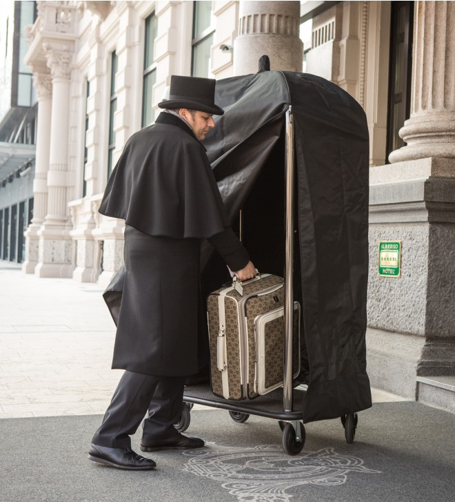 Hotel luggage cart cover