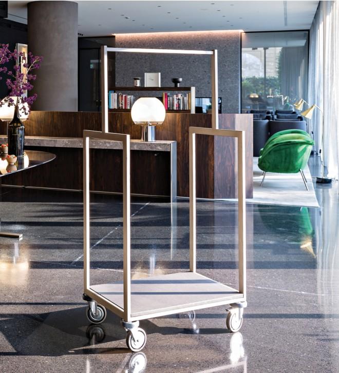 Hotel style luggage cart