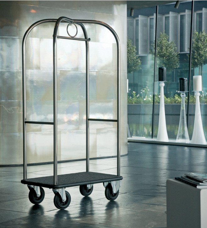 Hotel luggage trolley