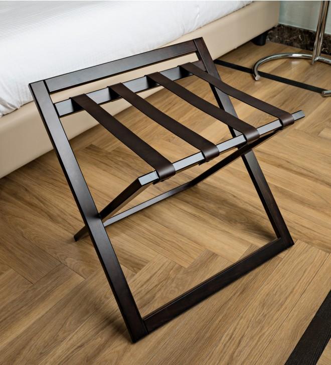 Wooden luggage rack