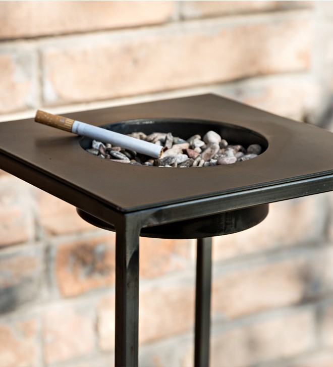 Iron ashtray stand