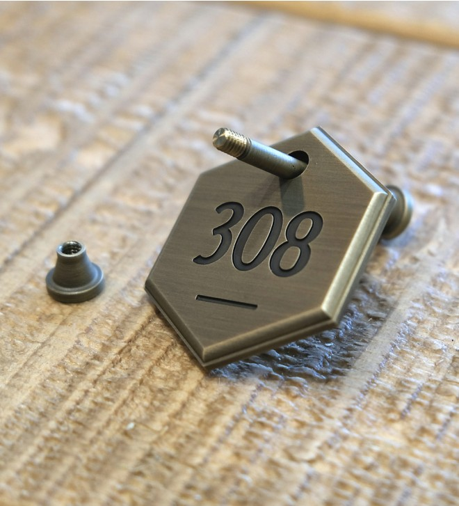 Numbered key fobs for hotel