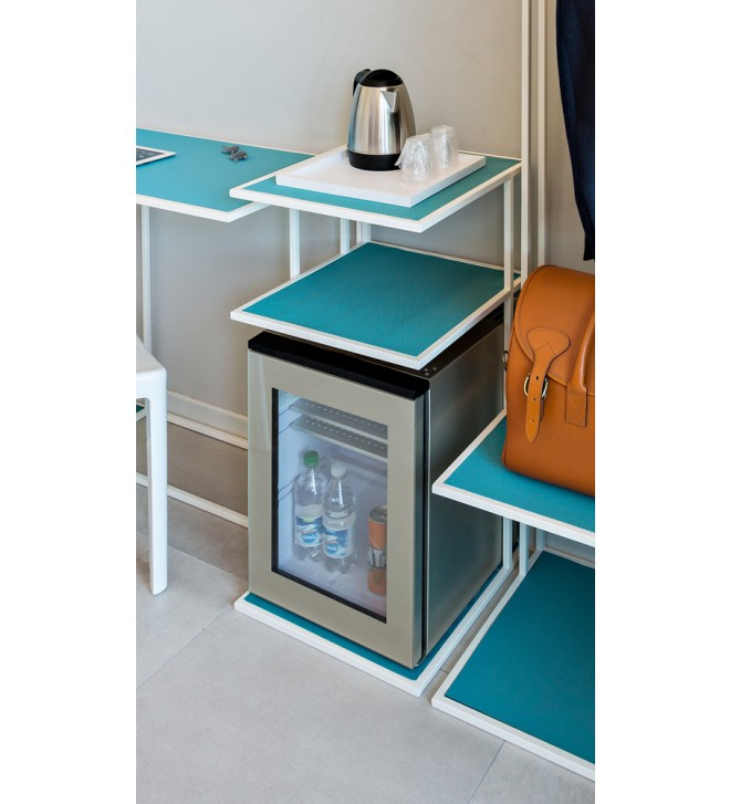 Structure with shelves for minibar