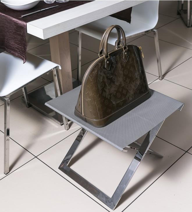 Folding bag rack