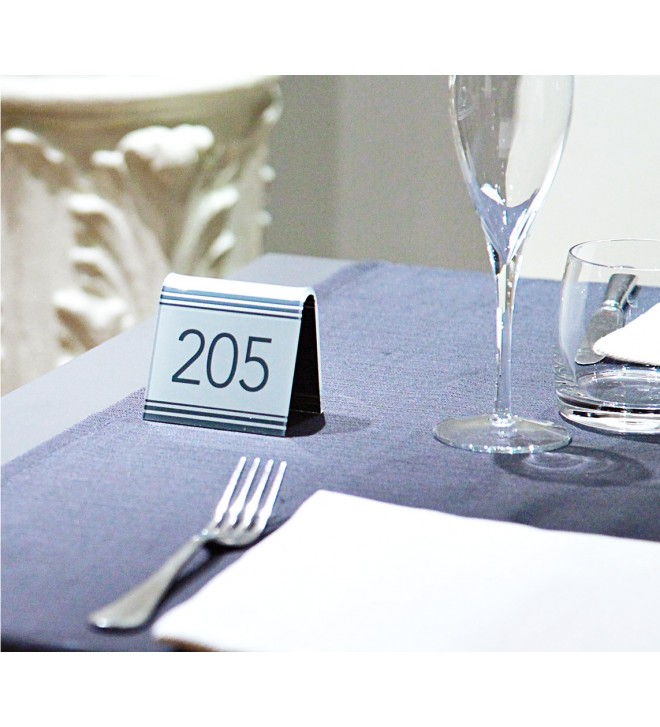 Tent table number, contemporary version.