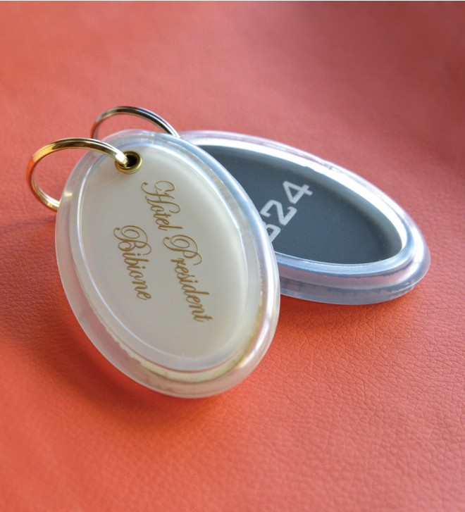 Hotel room key tags