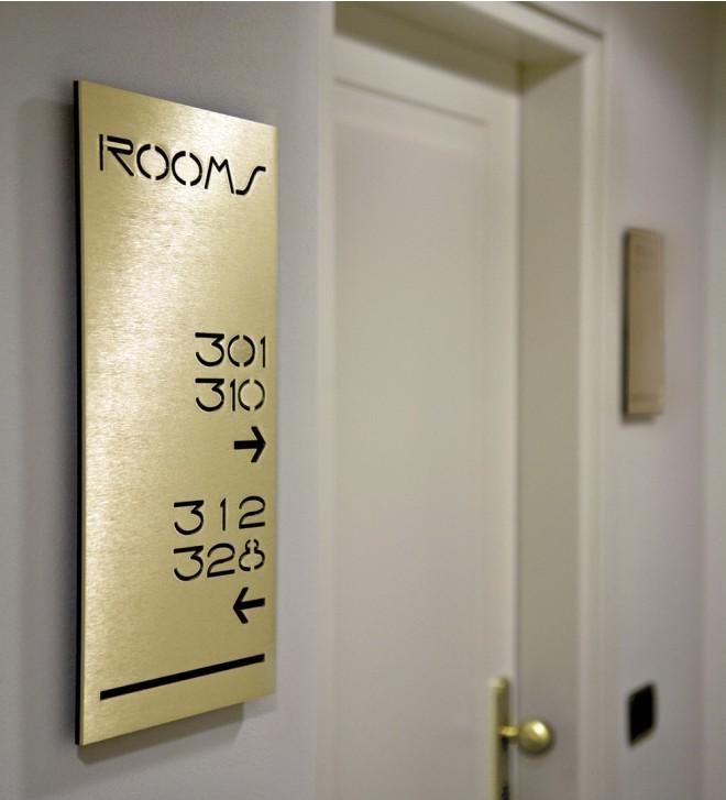 Hotel door number signs