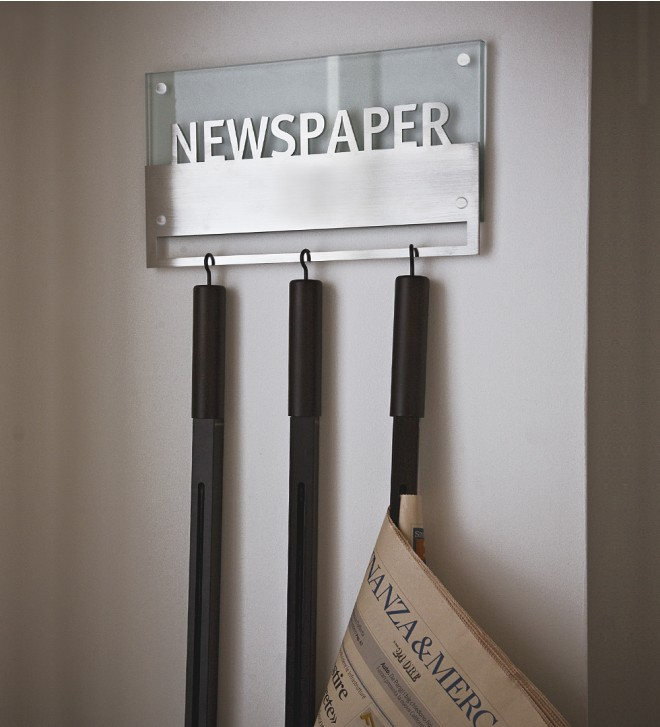 Newspaper rack wall mounted