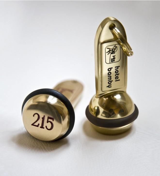 Brass key fob
