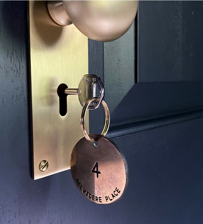 Personalized hotel keychains