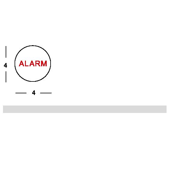 Shower alarm tag