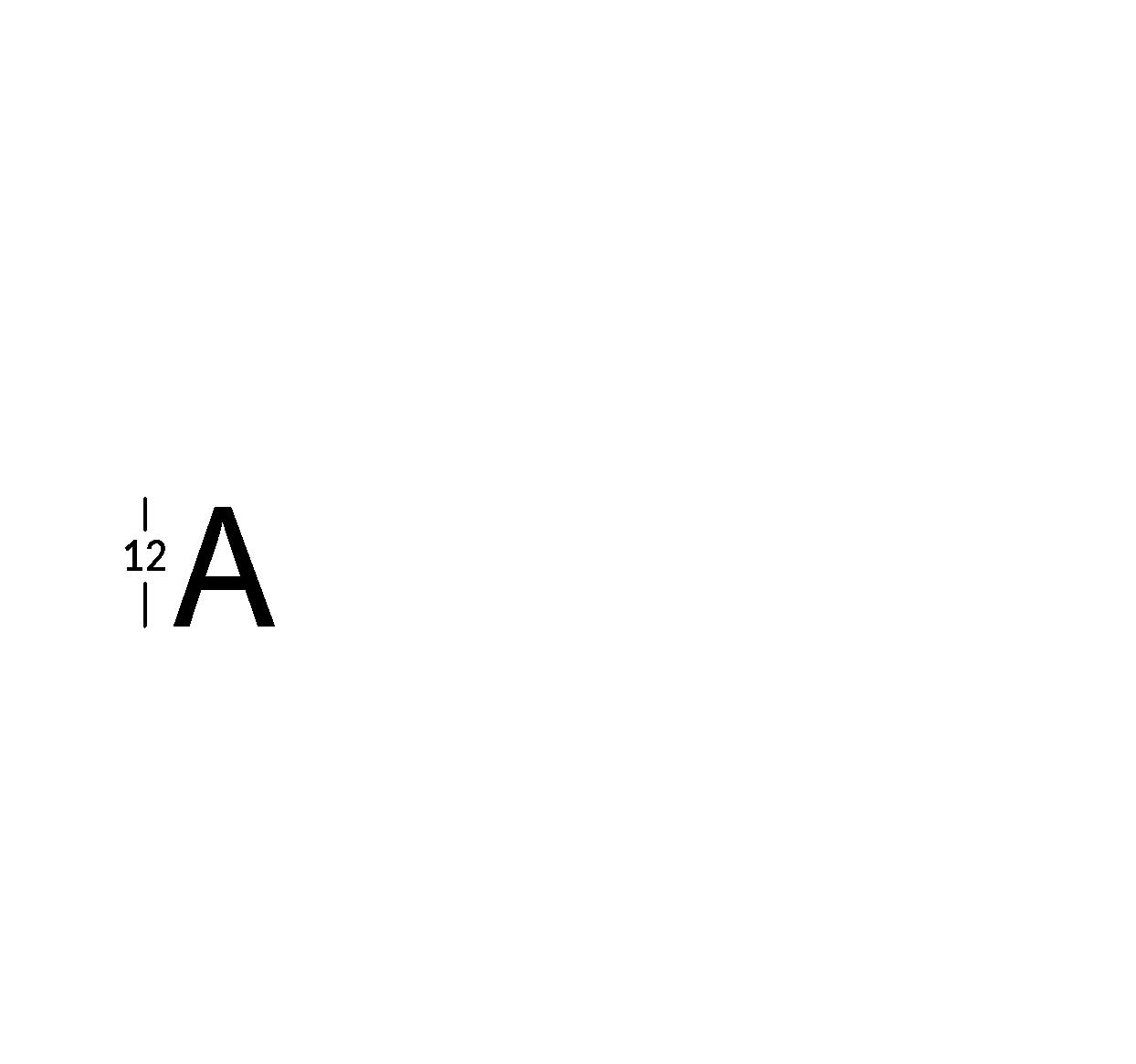 Carattere rit. h12cm/s2.5mm