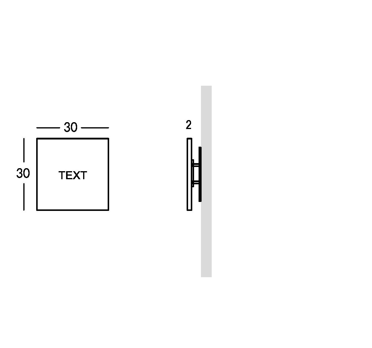 Business signs in Plexiglass. XS version