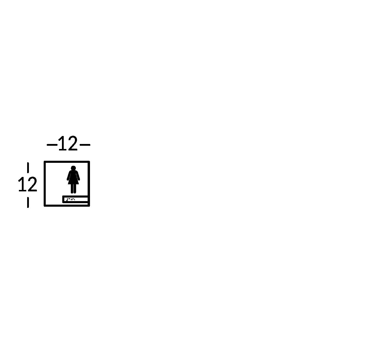 Sign symbol.