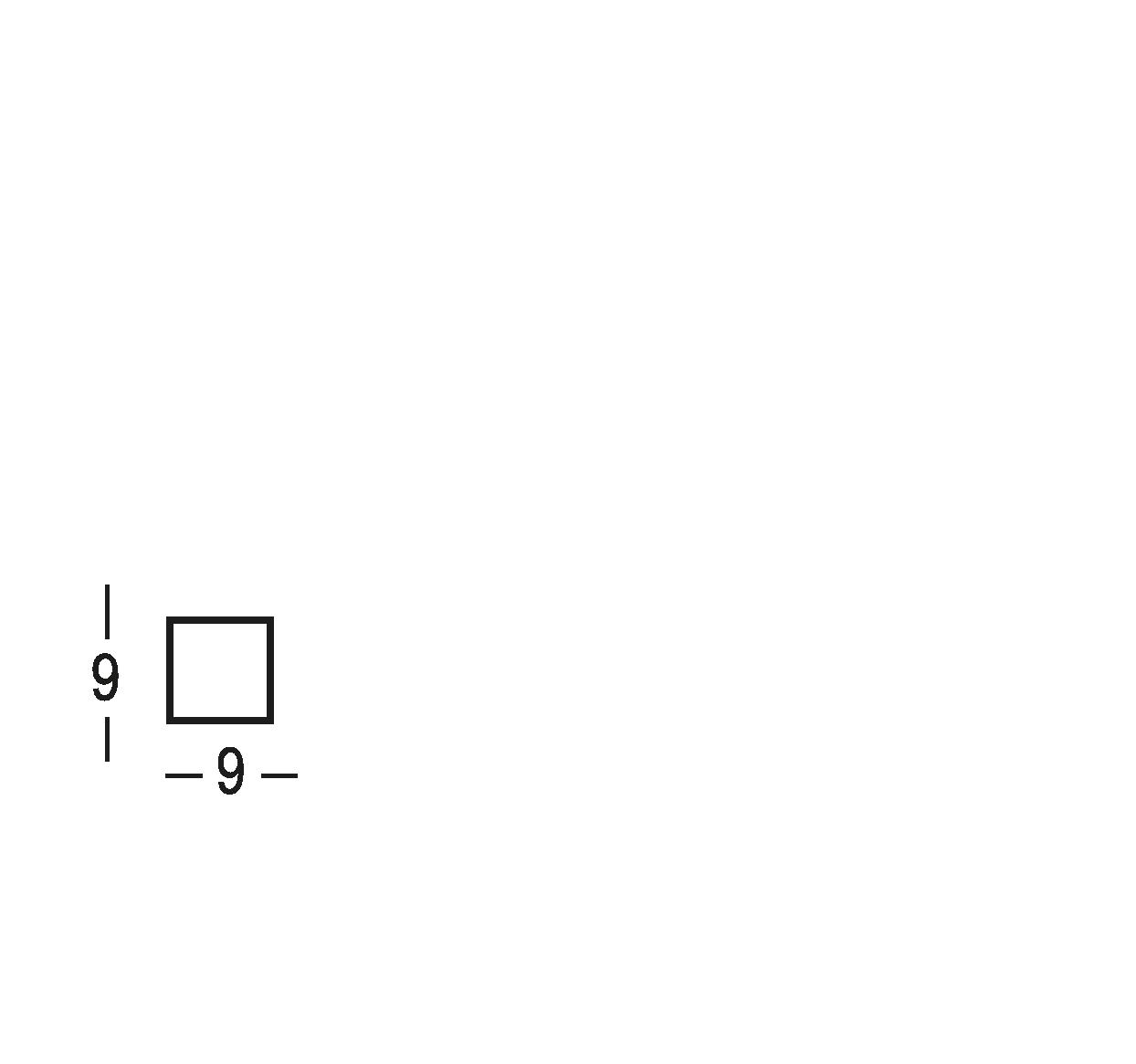 Targa 9x9 cm